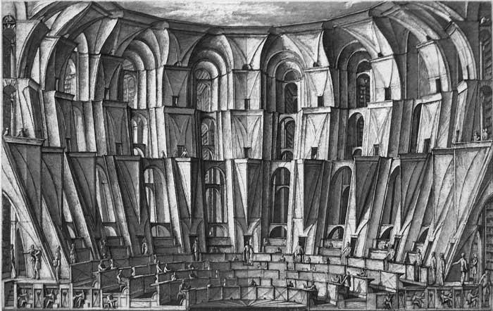 """""""La biblioteca de Babel"""" Erik Desmazier, Noviembre Nocturno"""